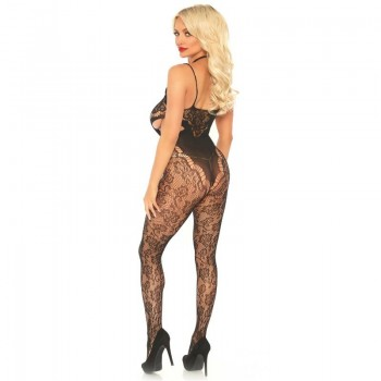 LEG AVENUE LACE BODYSTOCKING WITH CUT OUT TU